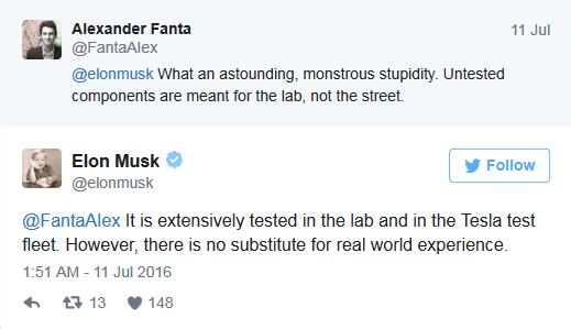 马斯克暗示自动驾驶处beta阶段 待超10亿英里结束