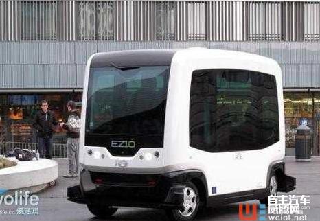 自动驾驶车EZ10上路迪拜最繁华街道图片