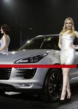 众泰SR9上市发布会车模魅影