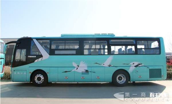 30辆中通旅游团体车为中通11米气电混合动力客车,除了青岛温馨巴士的