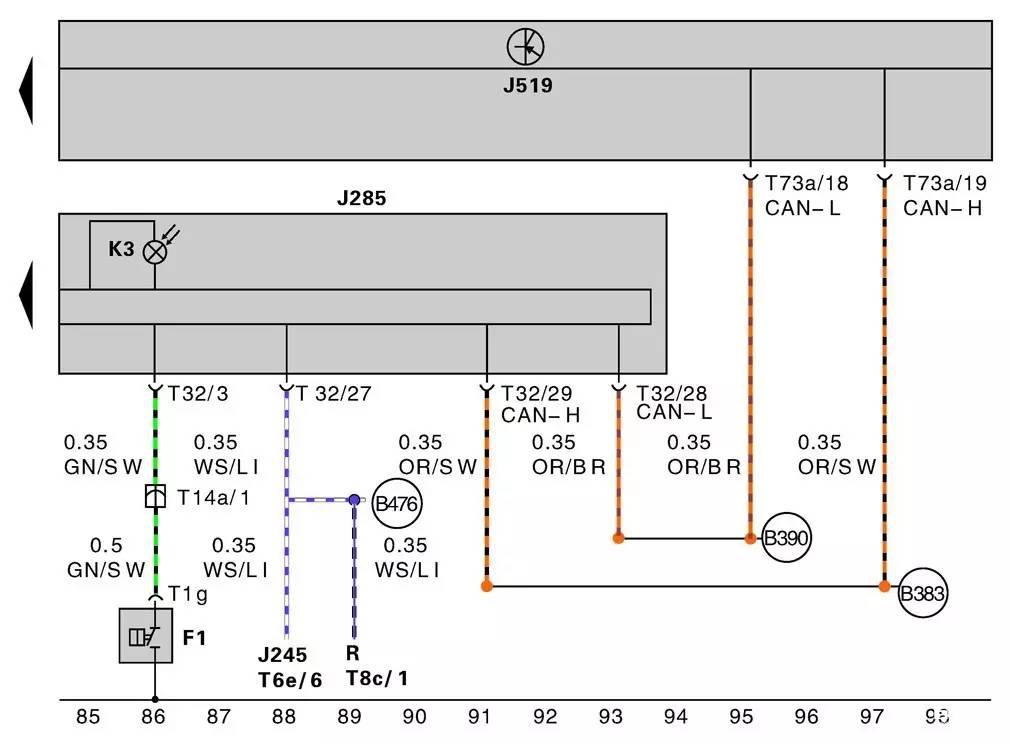 组合仪表系统电路图的识读方法_养车修车 用车-【自主